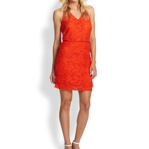🆕 Laundry by Shelli Segal Tiered Lace Dress - 12